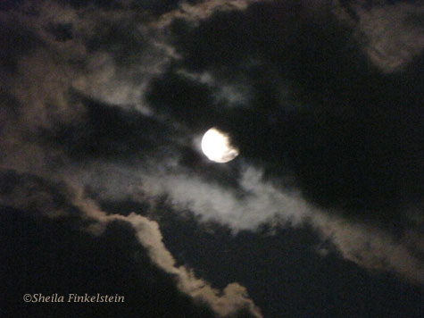 moon moon with clouds