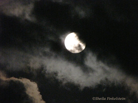 Moon in the clouds Panasonic