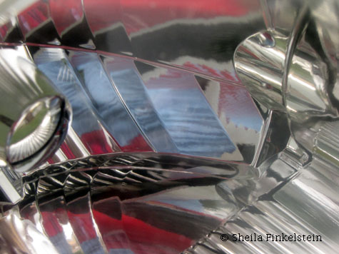 Reflections in Car Head Lamp